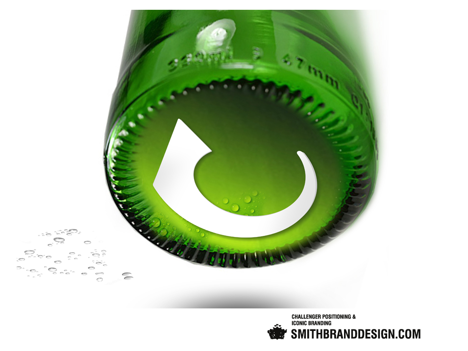SmithBrandDesign.com Carlsberg Branded Bottom Tilted