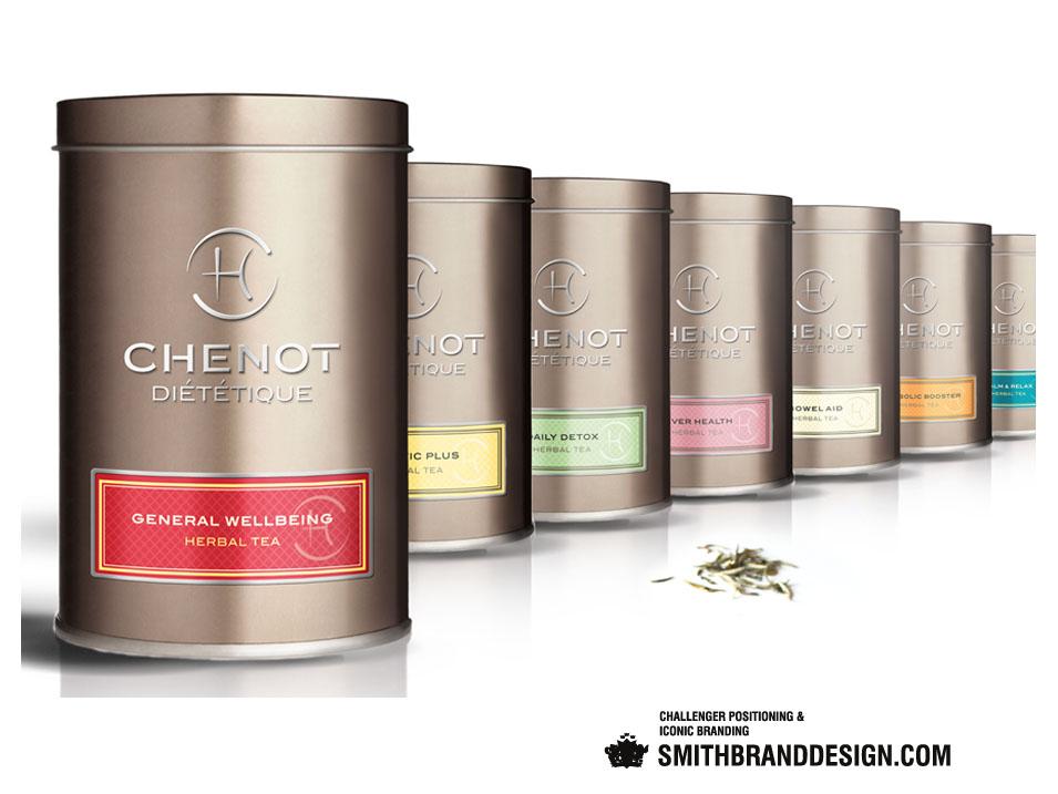 SmithBrandDesign.com Chenot Diététique Herbal Teas Line Up