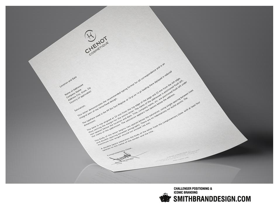 SmithBrandDesign.com Chenot Letterhead