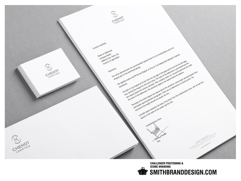SmithBrandDesign.com Chenot Stationery