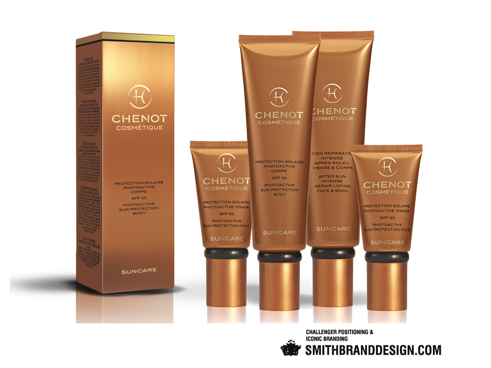 SmithBrandDesign.com Chenot Suncare Package Line