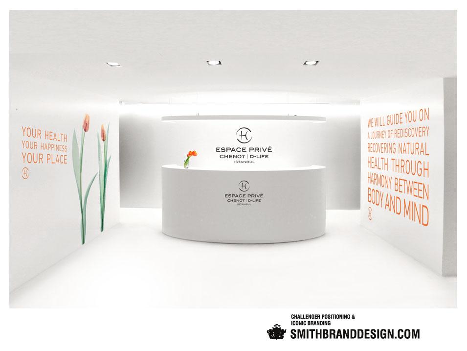 SmithBrandDesign.com Espace Privé Chenot D-Life Reception