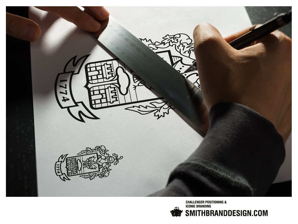 SmithBrandDesign.com Pineider Brand Sketch