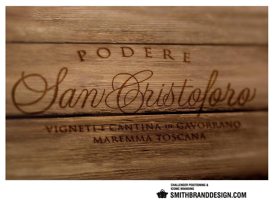SmithBrandDesign.com San Cristoforo Brand Burnished Wood