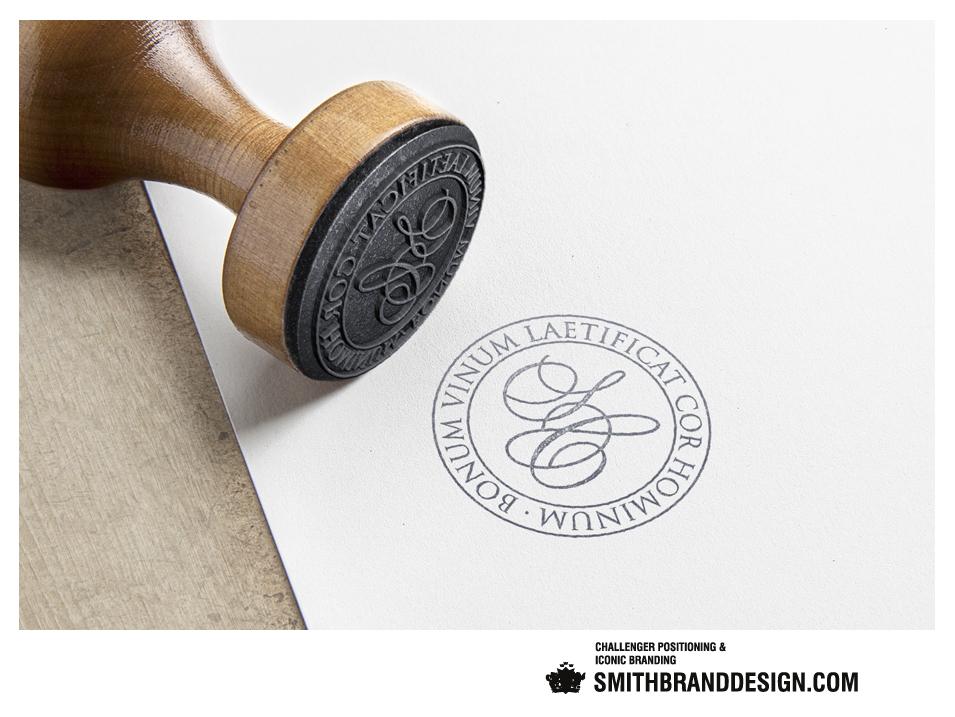 SmithBrandDesign.com San Cristoforo Brand Rubber Stamp
