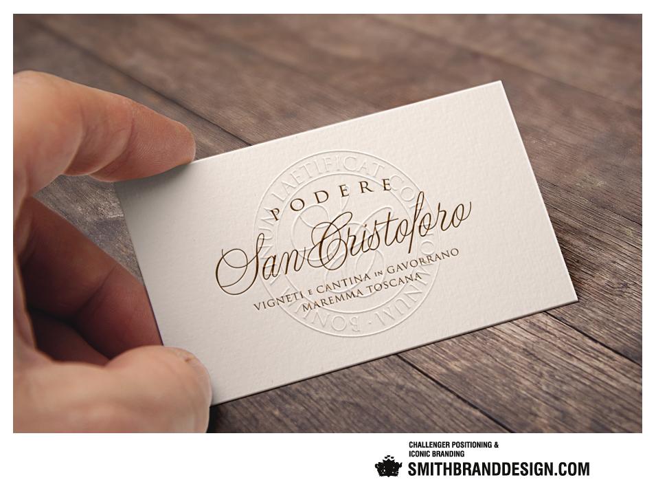 SmithBrandDesign.com San Cristoforo Business Card Embossed