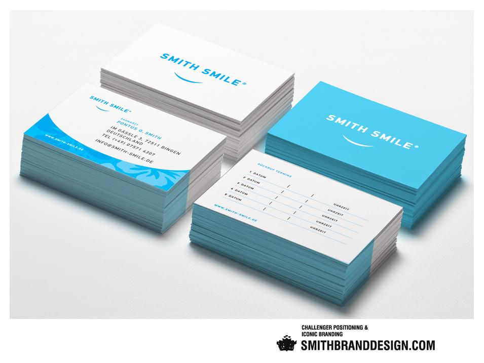 SmithBrandDesign.com Smith Smile Business Cards